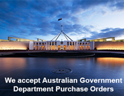 We accept Australian Government Department Purchase Orders.